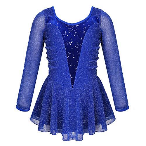 CHICTRY Abito da Pattinaggio sul Ghiaccio Bambina Glitter Vestito Danza Classica Body da Ginnastica...