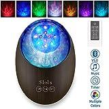 [2020 Neu]Projektor Lampe Bluetooth LED Farbwechsel Nachtlichter mit Remote Timer/8 Beleuchtungsmodi/Musikspieler/TF Karte Dekorative Licht für Kinder Geburtstag Weihnachten Geschenk Stimmungslicht