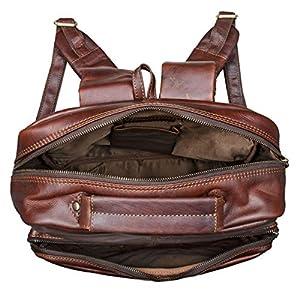 514V9xkjodL. SS300  - STILORD 'Toni' Mochila Piel Grande para Hombre Mujer Daypack Estilo Vintage portátil 13.3 Pulgadas A4 para Universidad…