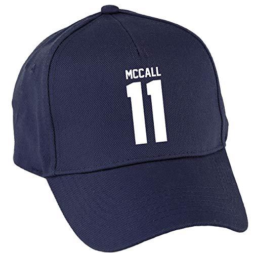 Hippowarehouse McCall 11 Baseball Cap hat Premium Printed 5 Panel OneSize Adults Navy