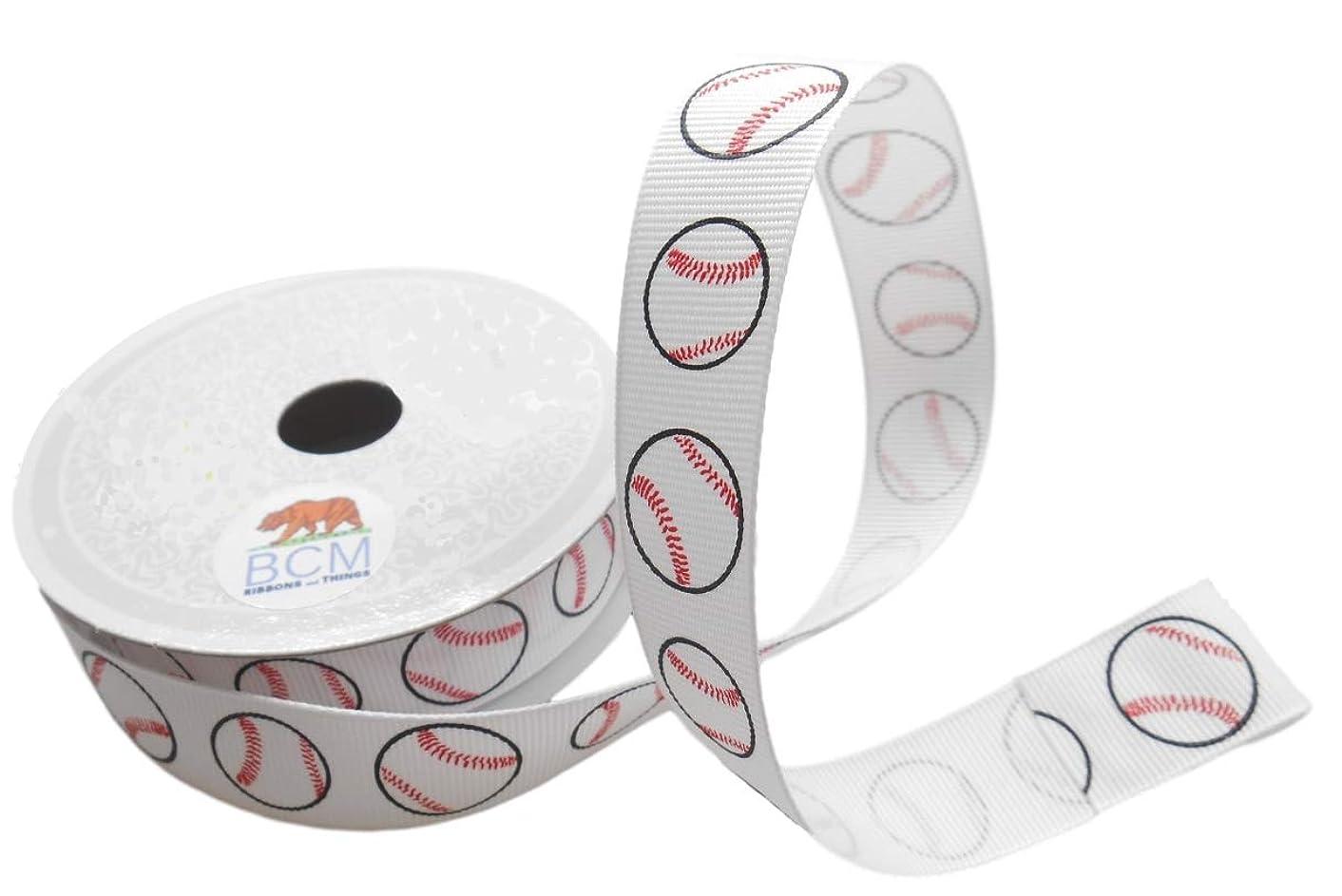 Sports Craft Ribbons 7/8-Inch x 10 Yards Grosgrain Sport Ribbon (Baseball)