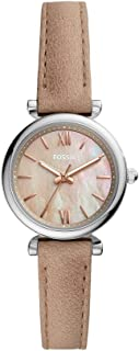Fossil Carlie Mini Women's Brown Dial Leather Analog Watch - ES4530