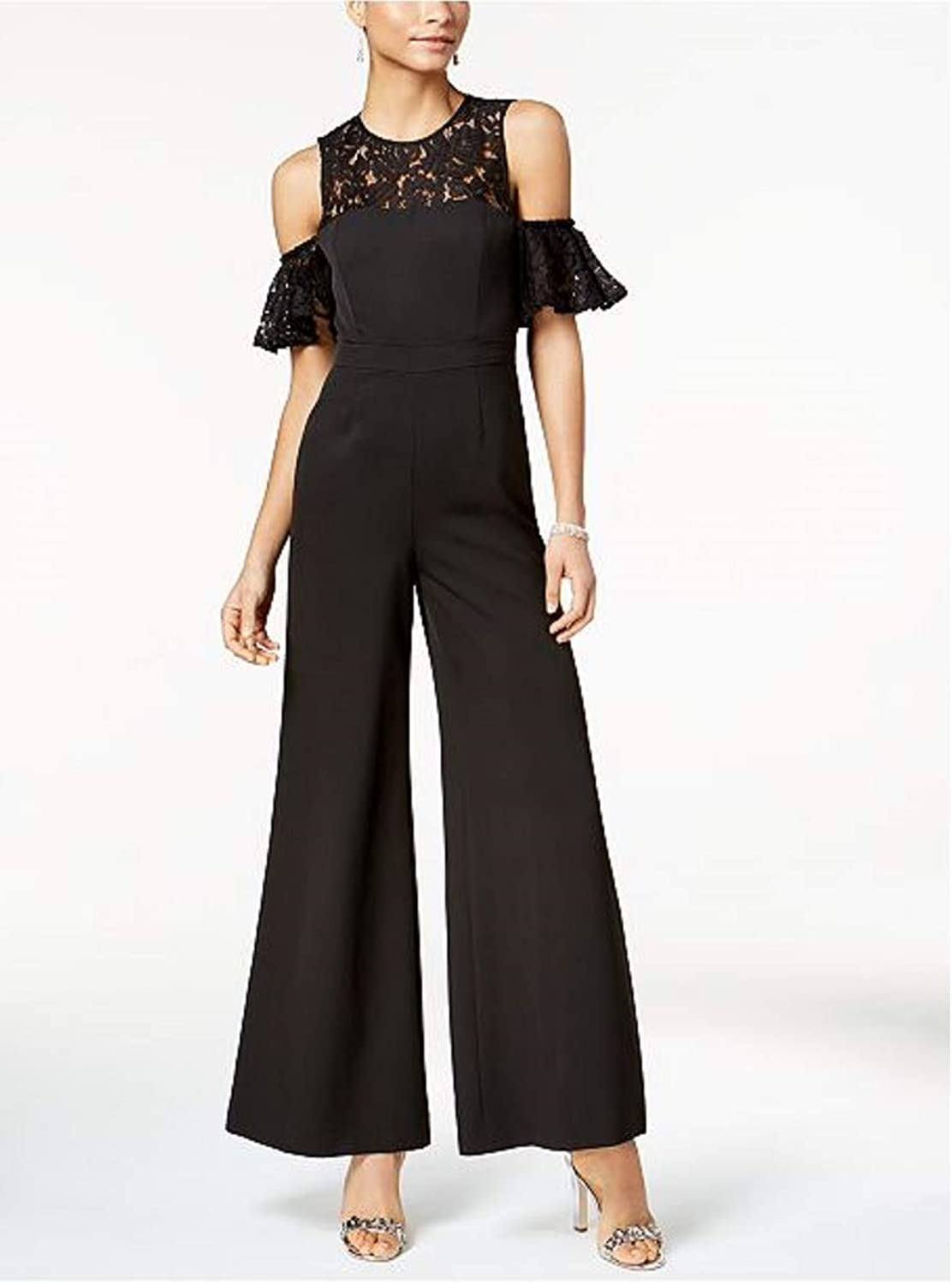 FAME AND PARTNERS The Carnation LaceTrim Jumpsuit