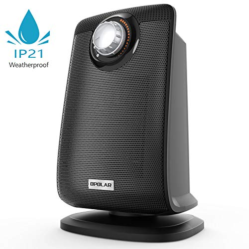 Oscillating Bathroom Space Heater with IP21 Waterproof, 1500W Portable Ceramic Safe Heater with Adjustable Thermostat, Fast Heating, Ideal for Living Room Bedroom Office Washroom Use Heater Portable Space