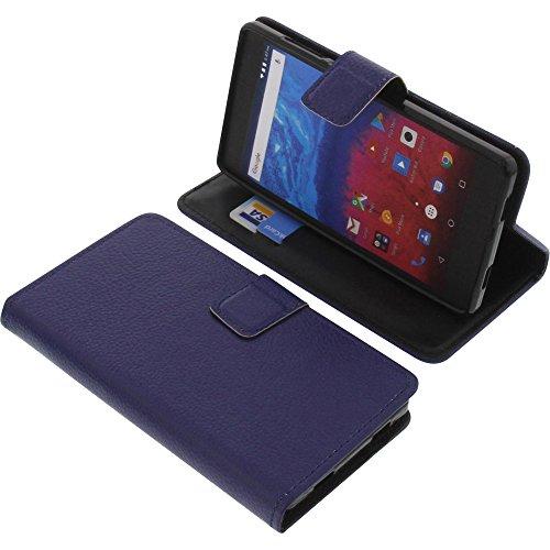 foto-kontor Tasche für Archos Core 50 Book Style blau Schutz Hülle Buch