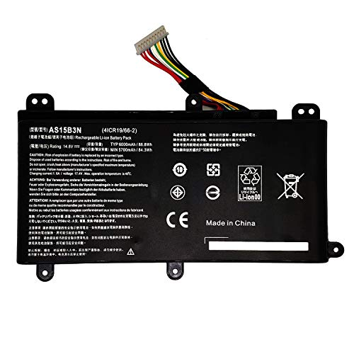 MLKB AS15B3N Replacement Battery Compatible with Acer AS15B3N Predator 15 G9-591 G9-591G G9-592 G9-592G 17 G9-791 G9-791G G9-792 G9-792G 17X GX-791 Series Notebook KT.00803.004 4I (14.8V 88Wh 6000mAh)