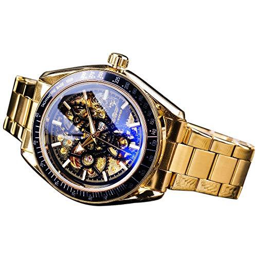 Winner Classic schwarz golden Herren Mechanische Automatische Armbanduhren