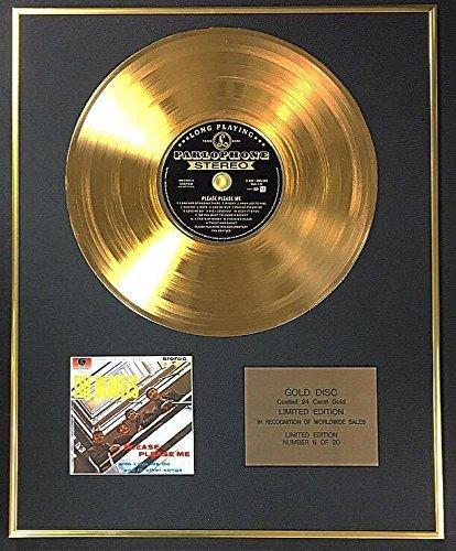 Century Music Awards The Beatles – Exklusive limitierte Edition 24 Karat Goldscheibe – Please Me