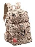 Nexpak USA DP321DMTN ACU Tan Digital Camo 21 Inch Tactical Molle Hydration Ready Range Backpack Shoulder Bag + Key Ring Carabiner