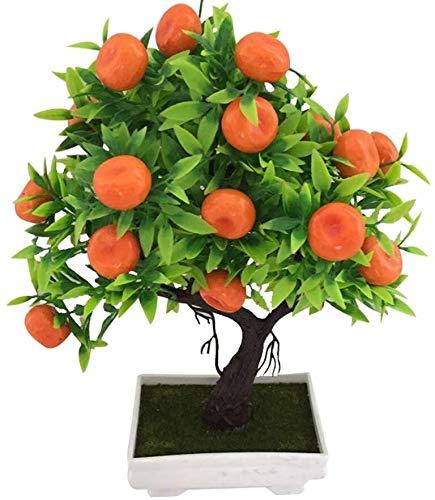 JTSYUXN Künstlicher Orangen-Baum, Bonsai, Topfpflanze, Schreibtisch-Dekoration für Party, Zuhause, Garten, Dekoration, 1 Stück