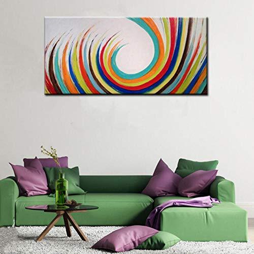 wydlb Decorazioni per la casa Moderne Arte della Parete Quadri Astratti di Grandi Dimensioni con Colori Arcobaleno, Tavolozza Dipinta Graffiti Pittura