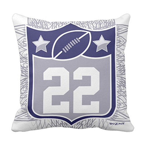 Emvency Throw Pillow Cover Navy Cowboys Team Sports Blue Silver Dallas Texas Jerseys Decorative Pillow Case Home Decor Square 16 x 16 Inch Pillowcase