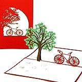 Pop Up Karte 'Fahrradtour' - Fahrradkarte, Gutschein, Fahrrad, Frühlingskarte, Einladung, Gutscheinkarte, Einladungskarte, Geschenkkarte, 3D Karte, Geburtstagskarte