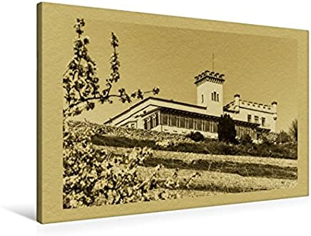 Premium Tessile della tela 45cm x 30cm Croce Pace Castello Radebeul, 90x60 cm
