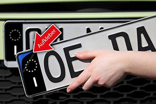 Italien I Nummernschild Kennzeichen Aufkleber EU Feld in schwarz überkleben - Im Moment der Trend in der Tuning Szene