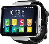 ZHENAO Smart Watch 2.4 Pulgadas Reloj Inteligente Patrón de Cara Desbloqueo 2000Mah Dual Cámaras Ip67 Reloj Deportivo Impermeable Ritmo Cardíaco para Android/Ios-Black Exquisito /