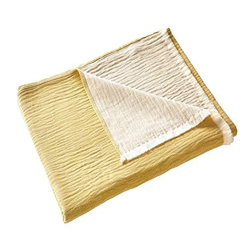 Madura – Manta de cinta – Amarillo acidulado – 180 x 280 cm