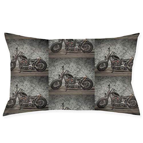 Funda de cojín decorativa para motocicleta Harley Davidson, rectangular, diseño de doble cara, para sofá, interior y coche
