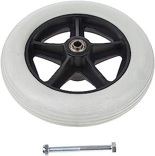 Rueda delantera antideslizante para silla de ruedas/movilidad, 8 pulgadas, piezas de repuesto