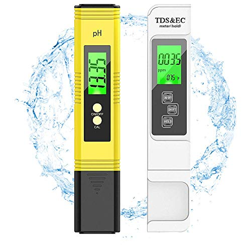 FILWO pH Messgerät, Digital pH TDS EC Temperatur 4 in 1 Set,Wasserqualität Tester(ATC) für Trinkwasser/Schwimmbad/Aquarium/Pools,Hoher Genauigkeit mit LCD Display