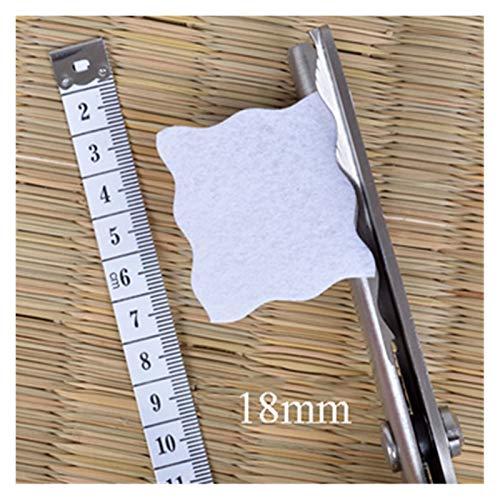 JINSUOZY Tijeras de sastre DXXLD con dientes redondos y triangulares, tijeras de coser zigzag para costura, tela o cuero (color: redondo 18 mm, 1 unidad)