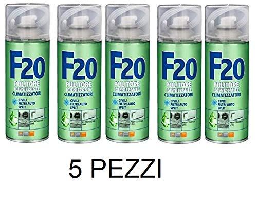 confez. 5 pezzi Faren F20 Igienizzante Spray, Trasparente, 400 ml