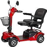 Silla de ruedas eléctrica / Silla de ruedas eléctrica, de 4 ruedas Scooter eléctrico, Heavy Duty Vespa, ligero y compacto, plegable, 4 ruedas de energía eléctrica Viajes Y Scooter, Asiento regulable /