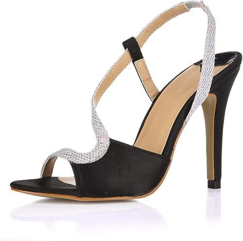 GRHWTAS Nouveau chaussures de femmes Dame Femme Talons Hauts Sandalias Sandalias femmes Chaussures de Mariage Prom Party Robe Sandales Pompes 5186-6a  offre spéciale