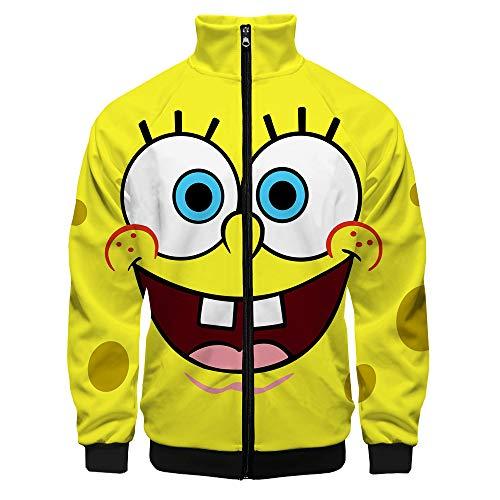 Quyuhgek Spongebob Squarepants Pullover Freizeit Hoodies Super Hot Printing Coats Bequeme Jacken Net Red Sweatshirt Langarm Pullover Modische Outwear Unisex Unisex (Color : A03, Size : M)