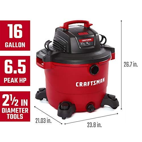 CRAFTSMAN CMXEVBE17595 16 Gallon 6.5 Peak HP Wet-Dry Vac