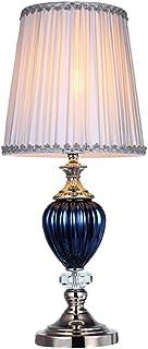 Lampes de table Lampe De Salon K9 Crystal Accent lampe de table de table moderne LED lampe tissu ombre à la main pour la c...