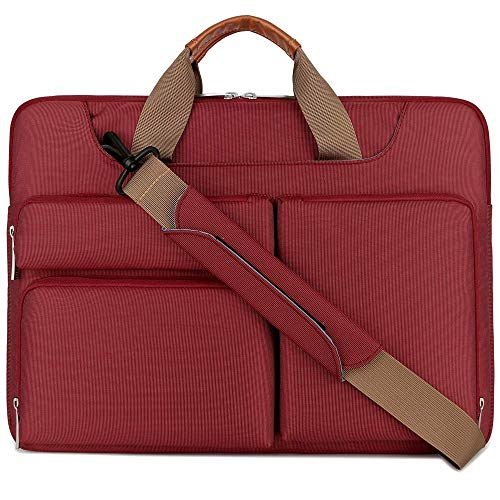 "Lacdo 13,3 Pulgada Funda Bandolera Portátil Protectora de 360° para 13"" Old MacBook Pro/MacBook Air 2010-2017, 13,3"" New MacBook Air/MacBook Pro 2016-2020, Jumper ASUS Acer Lenovo Dell ordenador, Rojo"