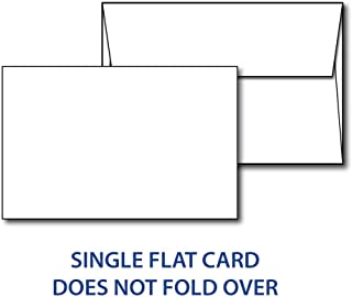 Heavyweight Blank White Cardstock with Envelopes - Half Letter Size 5.5x8.5 Inches - 40 Cards with Envelopes