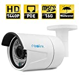 Reolink RLC-410S-LB IP Camera, 4-Megapixel 1440P POE Security IP Camera Outdoor Bullet,...