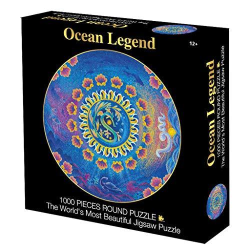 Puzzels Puzzel 1000 Pieces Of Circular Puzzle Adult Decompression Grote Creative Educatief speelgoed jongens en meisjes Coil Reeks van de Illustratie Gift spellen (Color : A)