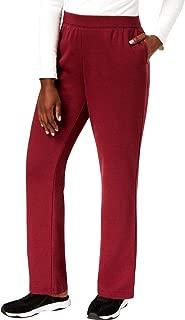 Karen Scott Sports Womens Petites Fleece Fitness Sweatpants Red PXL