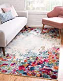 Unique Loom Chromatic Collection Modern Abstract Colorful Multi Area Rug (3' 3 x 5' 3)