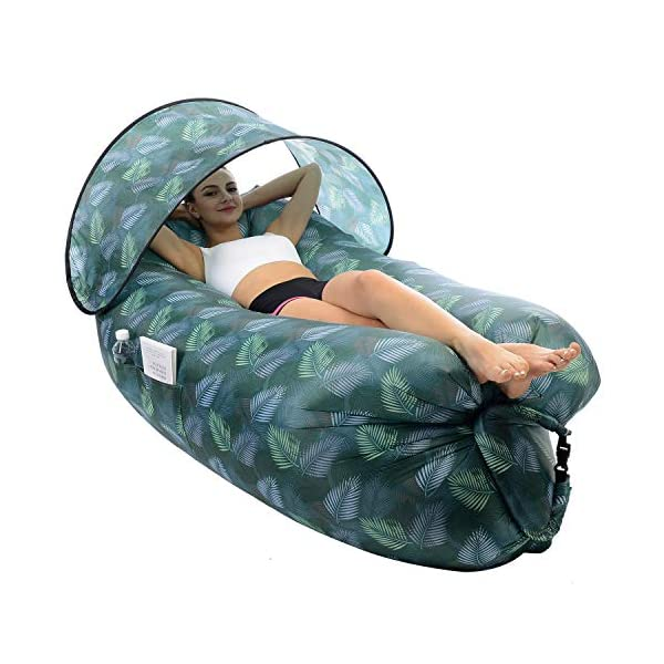 STEPIN Inflatable Lounger Air Sofa with Sunshade & Anti-Air Leaking Design,Best...