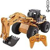 deAO RC Camion di Costruzione Radiocomandato 2.4GHz SYNC System per modalità Multi Giocatore (Camion Escavatore)