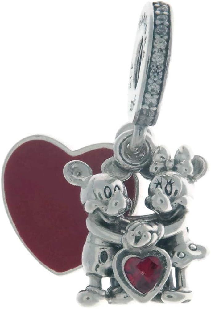 Pandora bead charm per donna,in argento 925,topolino e minnie 797769CZR