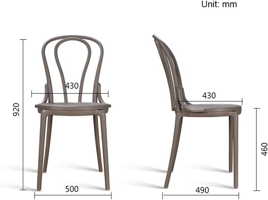 SLL- Chaise de Salle, Chaise de Bureau Simple, créative Dossier, Chaise Loisirs, Maison Adulte Chaise de Salle Moderne (Color : Green) Gray