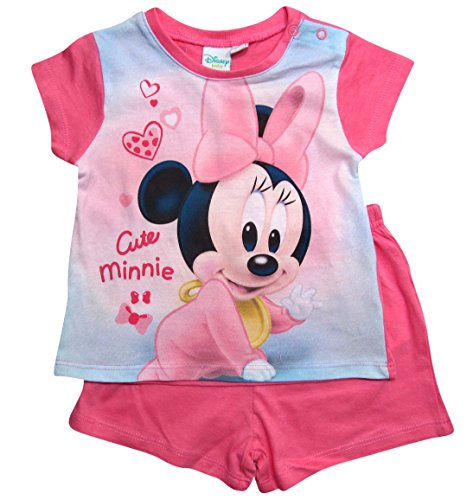 Minnie Mouse Kollektion 2018 Schlafanzug 68 74 80 86 92 Mädchen Shorty Pyjama Shortie Disney Maus (Rosa, 74-80)