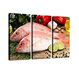 BELISIIS Fish red Snapper Cooking Seafood Wall Artwork Exclusive Photography Vintage Paintings Print...