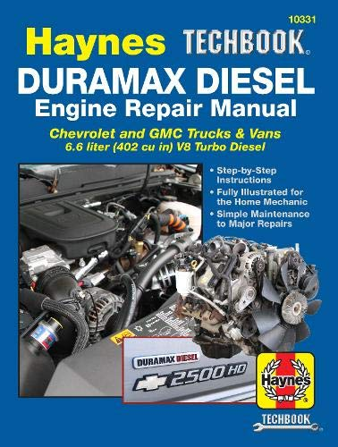 Compare Textbook Prices for Duramax Diesel Engine Repair Manual: 2001 thru 2019 Chevrolet and GMC Trucks & Vans 6.6 liter 402 cu in V8 Turbo Diesel Haynes Repair Manual Illustrated Edition ISBN 9781620923849 by Editors of Haynes Manuals