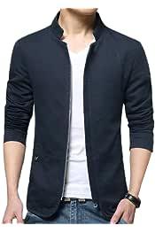 omniscient Mens Winter Zipper Thicken Stand Collar Padded Down Jacket Coat