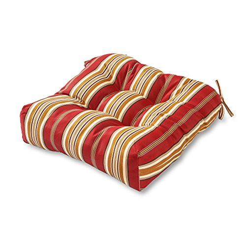 Greendale Home Fashions Indoor/Outdoor Chair Cushion, Roma Stripe,20-Inch