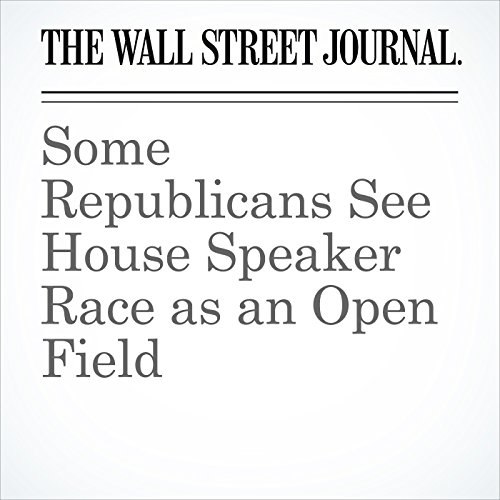 Some Republicans See House Speaker Race as an Open Field copertina