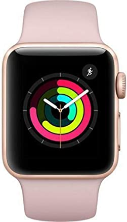 Apple Watch Series 3 38mm Smartwatch (GPS Only, Gold Aluminum Case, Pink Sand