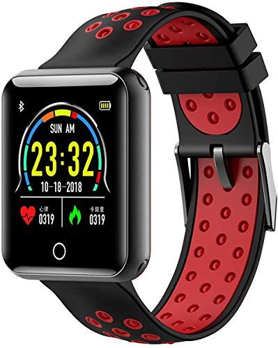 Wzmdd Smart Watch voor mannen vrouwen en kinderen, outdoor sport waterdichte intelligente armband voor smartphones met Android en iOS-systeem, siliconen, kan de riem verwijderd en vervangen