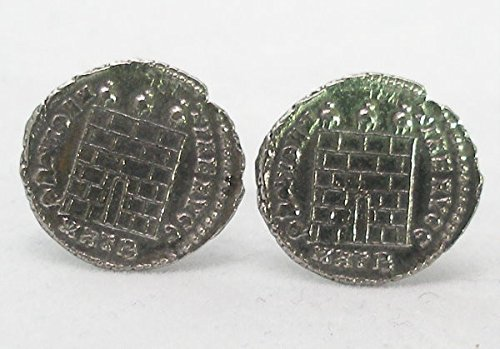 Boutons de Manchette Ancienne Porte du Château (avec Boîte à Cadeau)